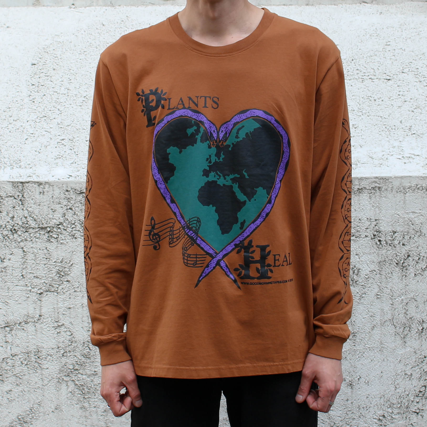 PLANTS HEAL LS TEE_CLAY
