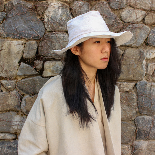[EXCLUSIVE] LINEN HAT_NATURAL