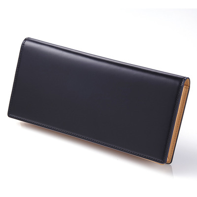 CORDOVAN LONG WALLET_NAVY