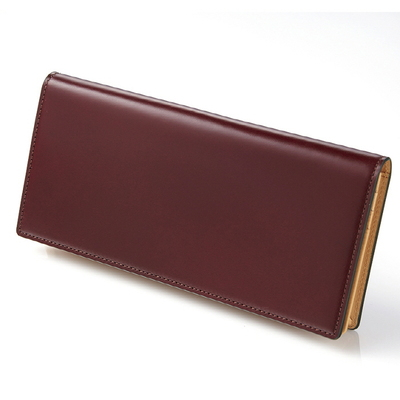 CORDOVAN LONG WALLET_BURGUNDY