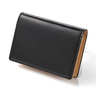 CORDOVAN BUSINESS CARD WALLET_BLACK