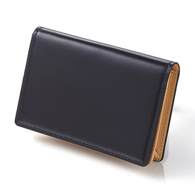 CORDOVAN BUSINESS CARD WALLET_NAVY