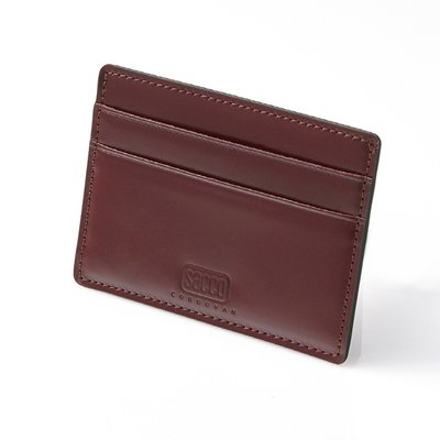 CORDOVAN CARD CASE_BURGUNDY