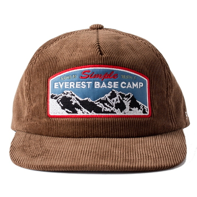 EVEREST 5PANNEL CAP_BROWN