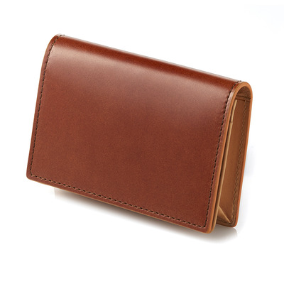 CORDOVAN BUSINESS CARD WALLET_TAN