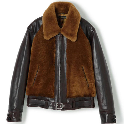LOT.443 GRIZZLY JACKET_BLACK / BROWN