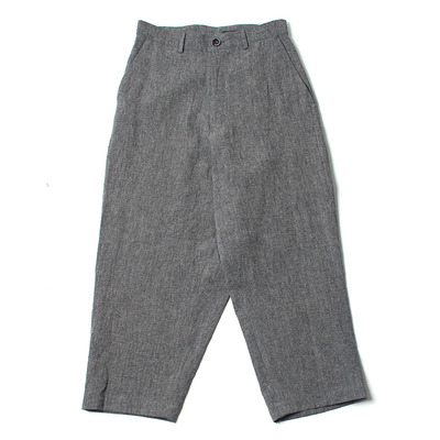 LINEN BACK WARP PANTS_CHARCOAL