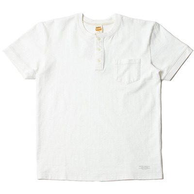 VOLUME COTTON HENLEY TEE_WHITE
