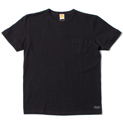 VOLUME COTTON POCKET TEE_BLACK