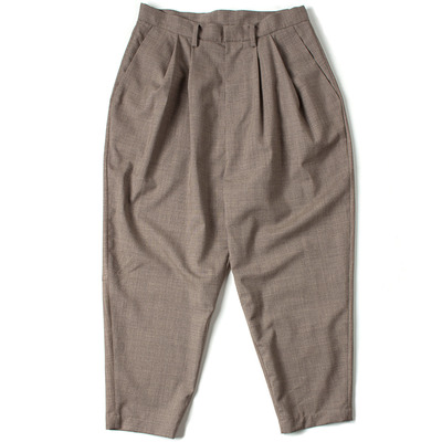 SWITCHING OVER TUCK PANTS_BEIGE