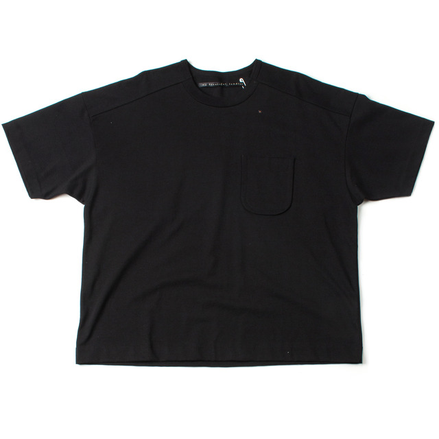 DYED KNITTED FABRIC T-SHIRT_BLACK