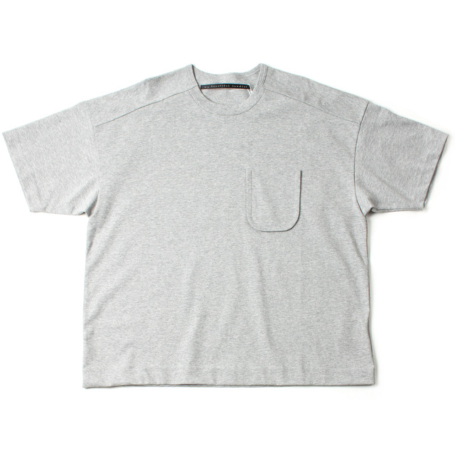 DYED KNITTED FABRIC T-SHIRT_GRAY