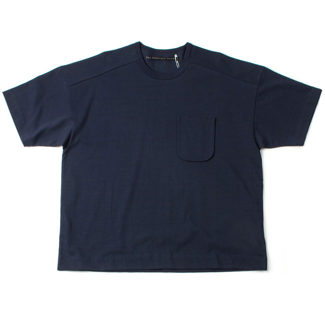 DYED KNITTED FABRIC T-SHIRT_NAVY