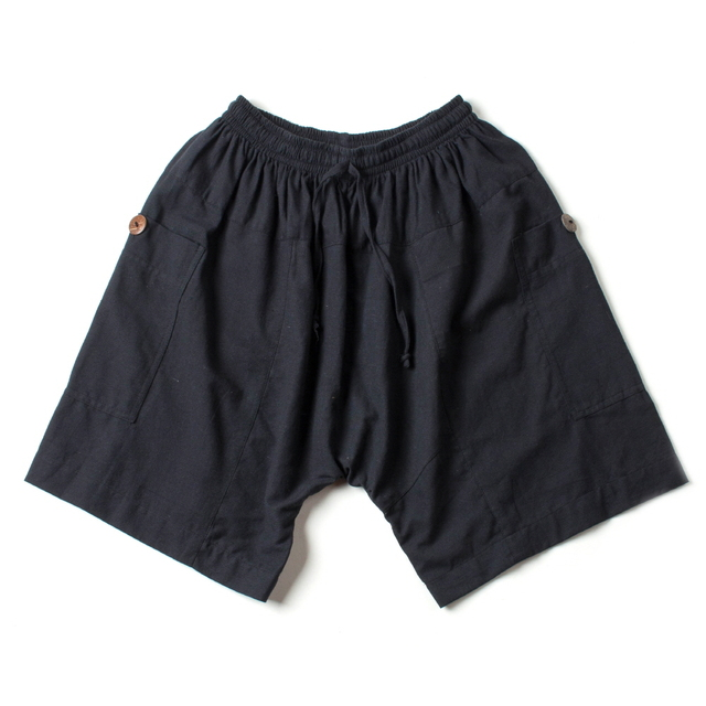COTTON HALF PANTS_BLACK