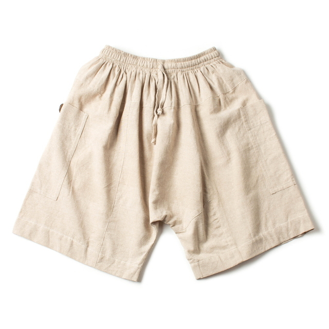 COTTON HALF PANTS_NATURAL