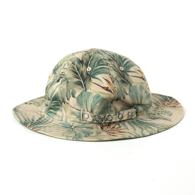 2 FACE LEAF HAT_KHAKI