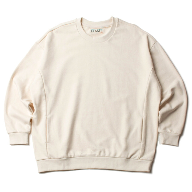 SIDE POCKET WIDE WHARF SWEAT_BEIGE