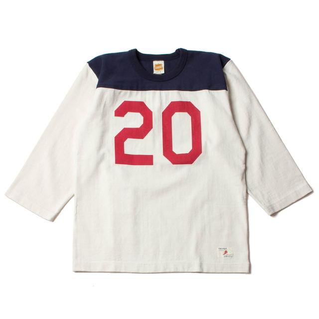 FOOTBALL NUMBER TEE_CREAM
