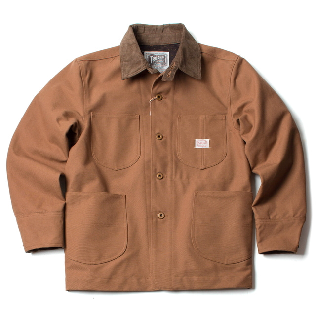 OILED DUCK COVERALL_BROWN