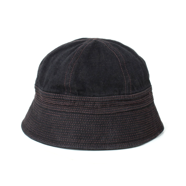 DENIM SAILOR HAT_BLACK