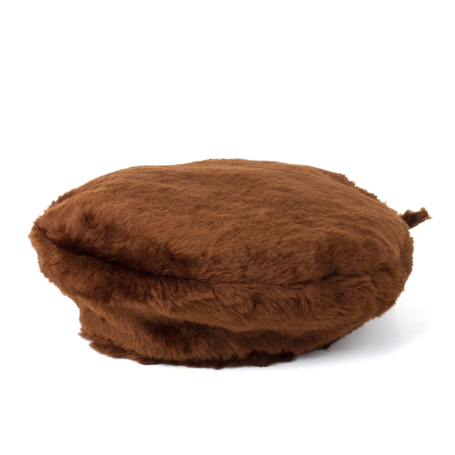 BERET FUR_BROWN