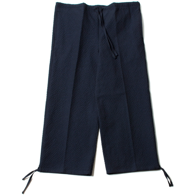 DRAWSTRING WIDE PANTS_NAVY