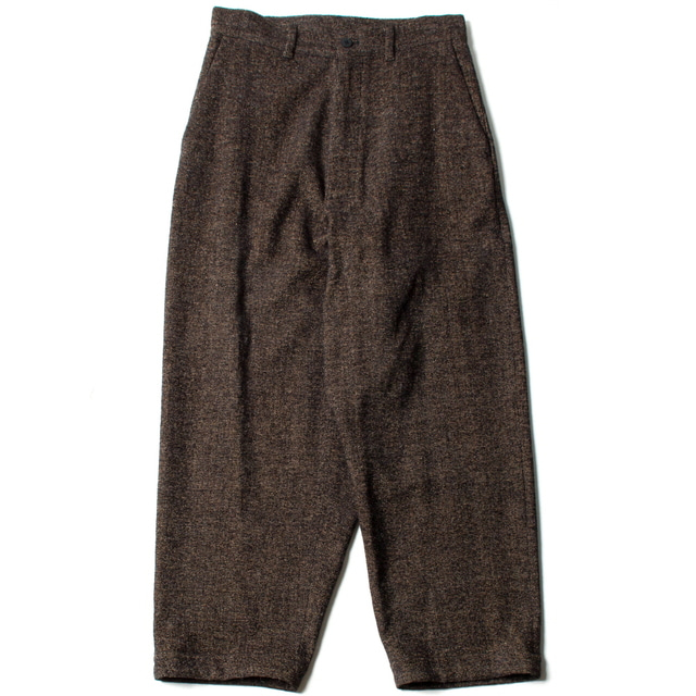 BRITISH WOOL WIDE PANTS_BROWN