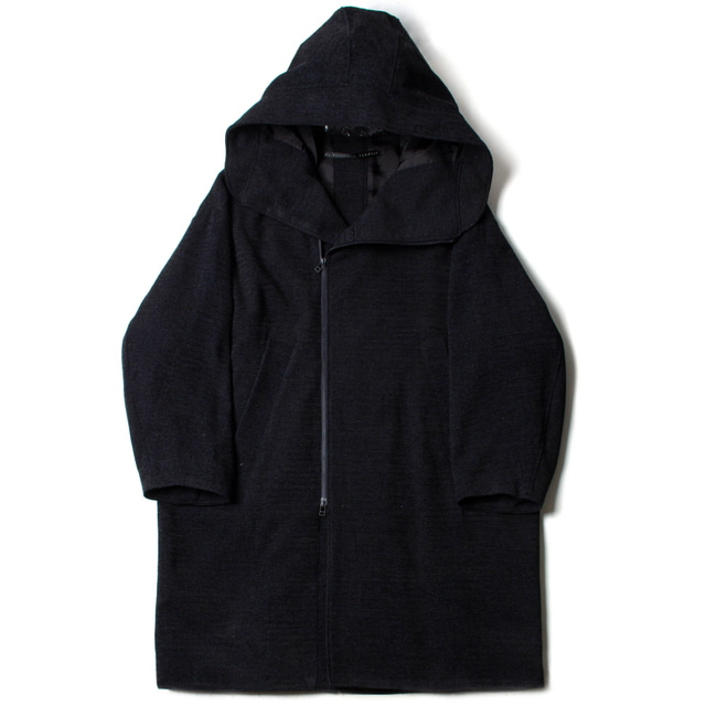 BRITISH WOOL HOODED BIG COAT_NAVY