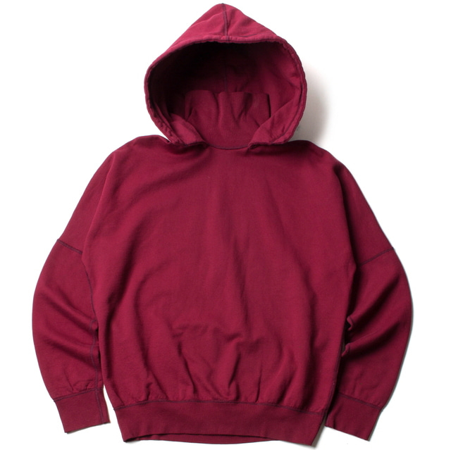 TURTLE HOODED SWEAT_WINE