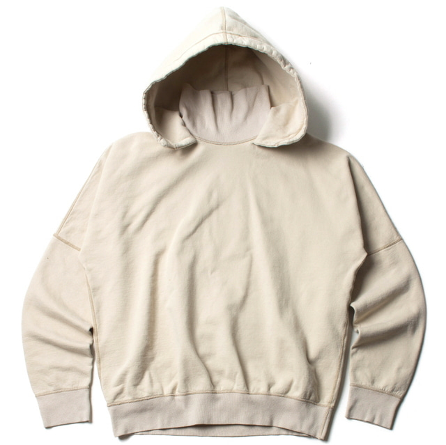 TURTLE HOODED SWEAT_WHITE