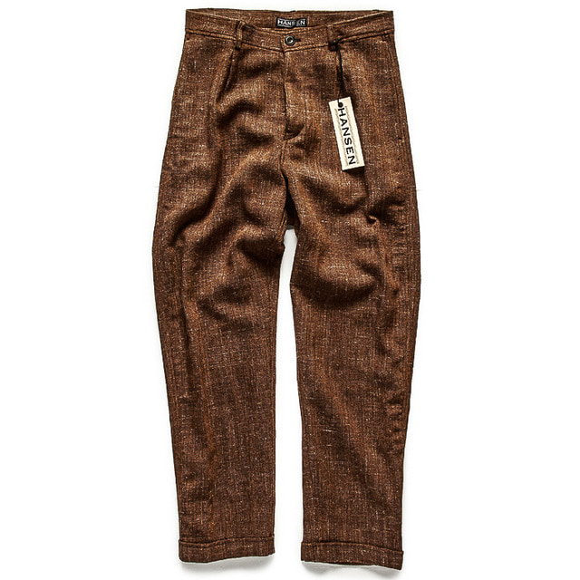 CASUAL LOOSE FIT TROUSERS_BROWN