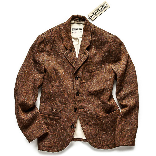 FIVE BUTTOM BLAZER_BROWN