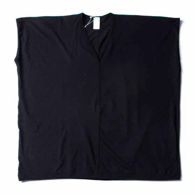 SLEEVELESS E/WIDE T_BLACK