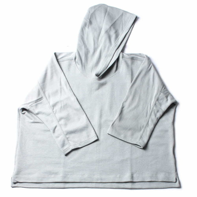3/4 SLV WIDE HOODED_GRAY