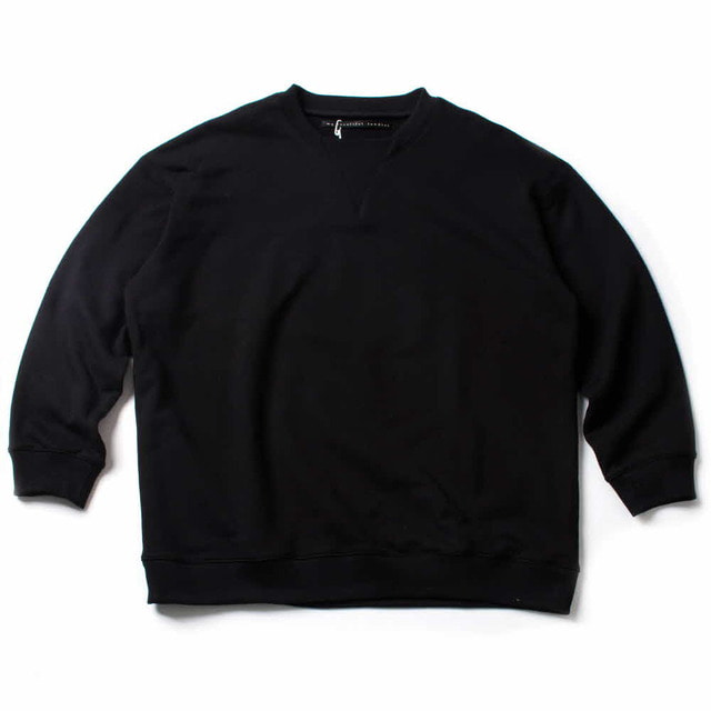 FLEECY KNITTING SWEAT_BLACK