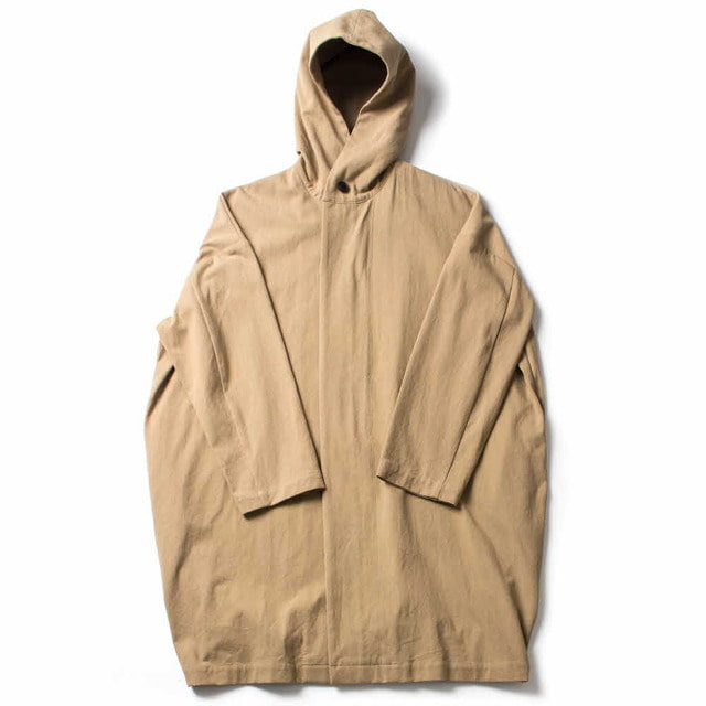 COTTON HOODED COAT_BEIGE