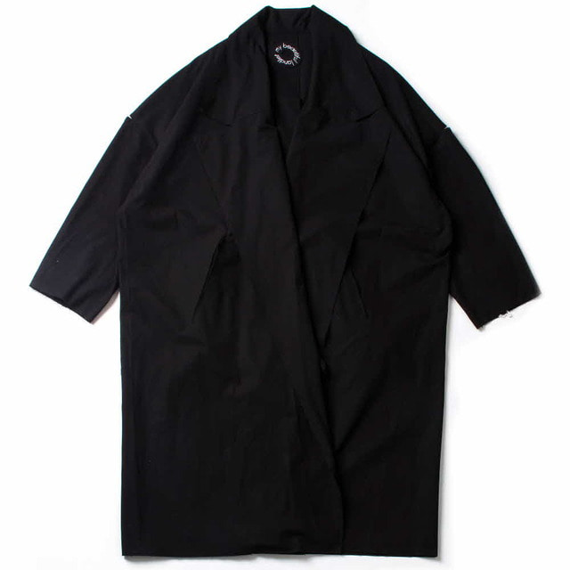 TAMBLER COTTON WIDE LONG COAT_BLACK