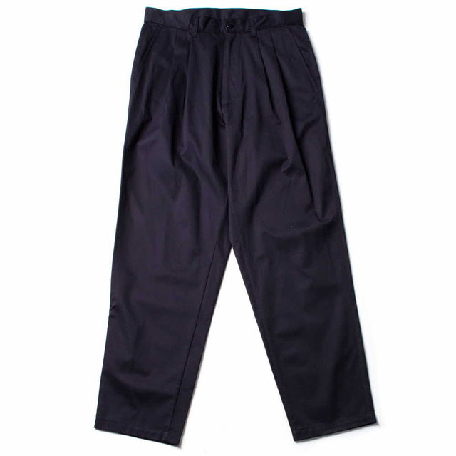 PLEATED CHINO_NAVY