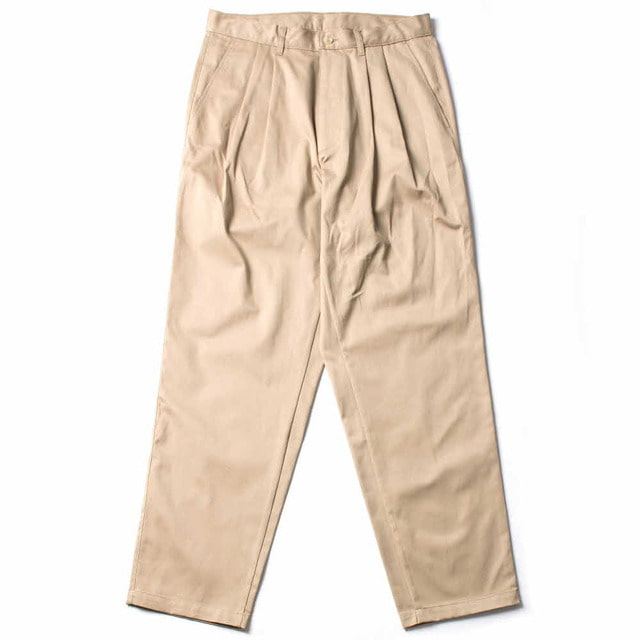 PLEATED CHINO_KHAKI