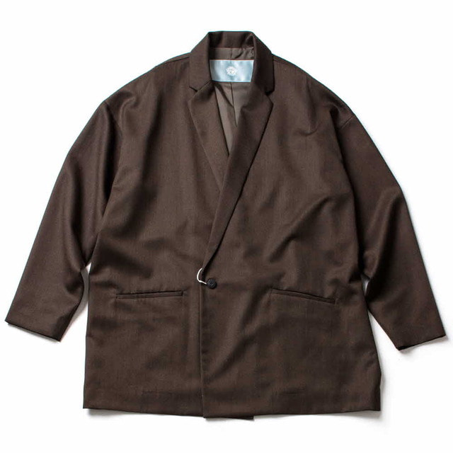 SWITCHING DOUBLE JACKET_BROWN