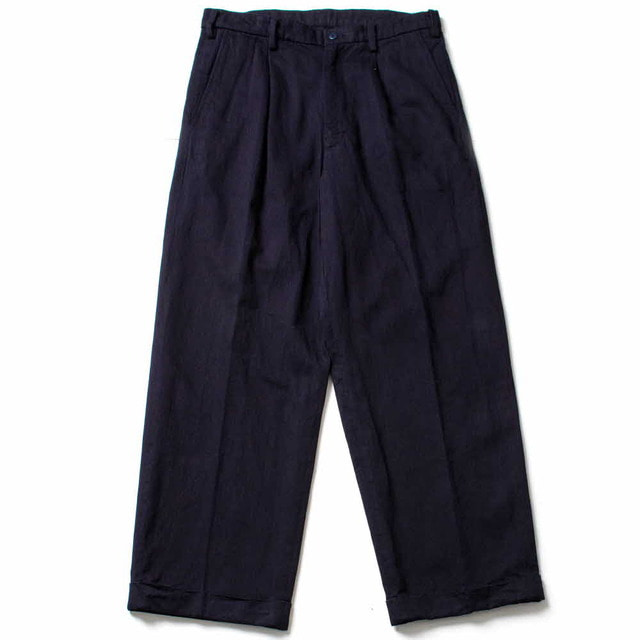 1PLEATS WIDE PANTS_INDIGO