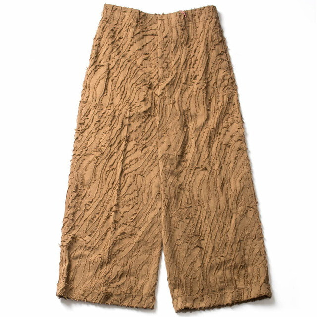 JACGUARD WIDE STRAIGHT PANTS_CAMEL