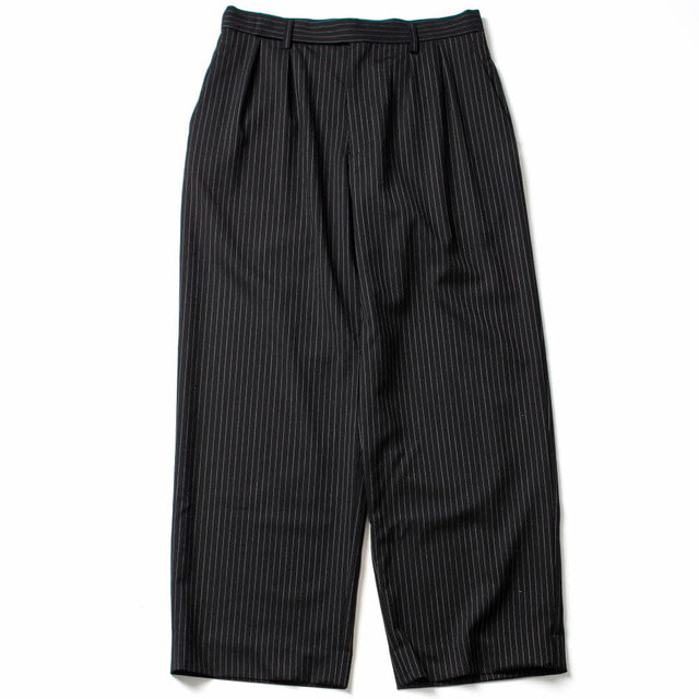 WIDE STRAIGHT PANTS_BLACK STRIPE