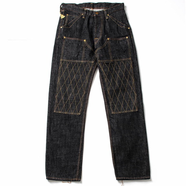 1606BK W KNEE STANDARD BLACK DIRT DENIM