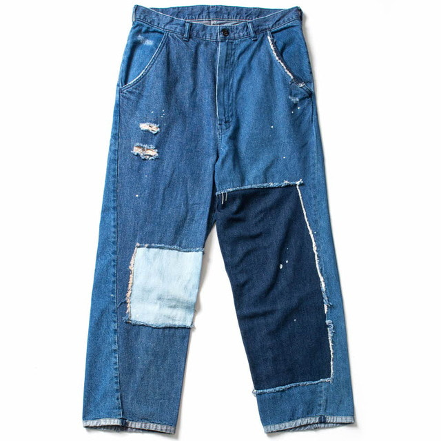 CARPAINTER WIDE PATCHWORK PANTS