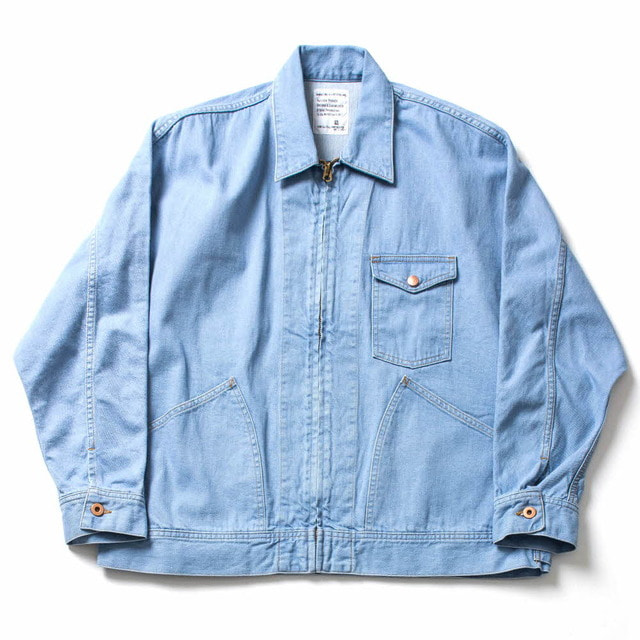 DENIM DPLMAN ZIP WORK JK_SAX