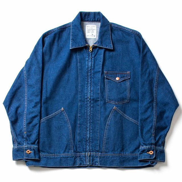 DENIM DPLMAN ZIP WORK JK_INDIGO