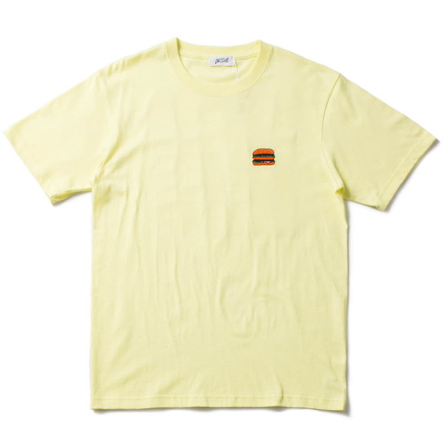 CHEESE BURGERS TEE_LIGHT YELLOW