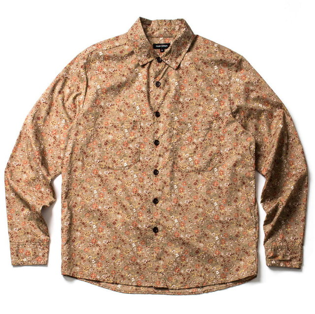 TWO POCKET SHIRT_TAN FLORAL