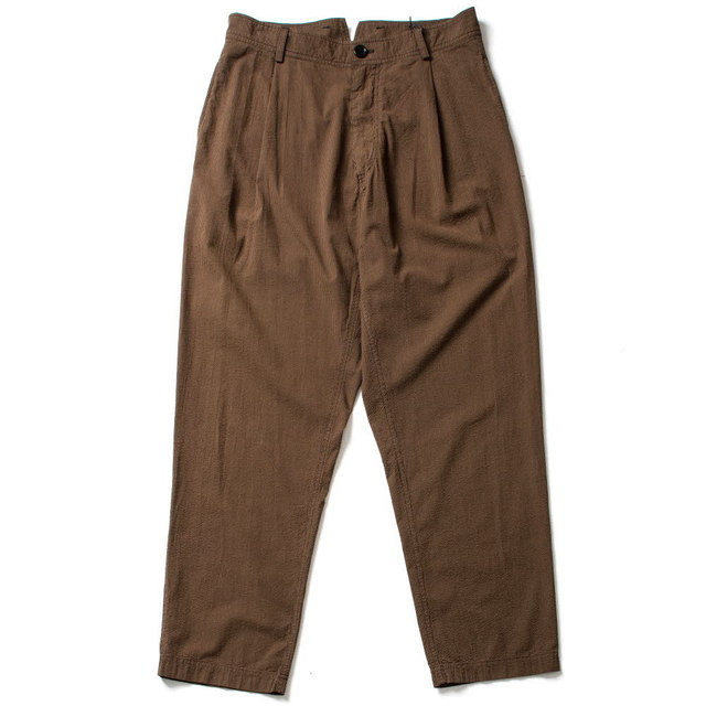 WIDE CUT TROUSERS_BROWN